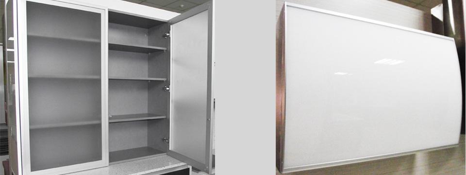 Vitrinas de aluminio puertas de aluminio l pez carrilero - Vitrinas de cocina ...